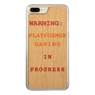 進行中のPlatformerの賭博 Carved iPhone 8 Plus/7 Plus ケース