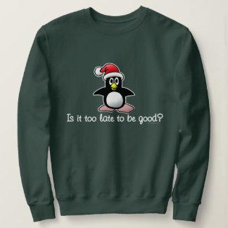 遅いそれは余りによいためにありますか。 クリスマスのペンギン スウェットシャツ