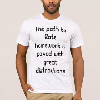 遅い宿題 Tシャツ