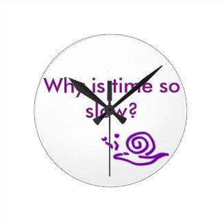 遅い時間の遅いかたつむり ラウンド壁時計