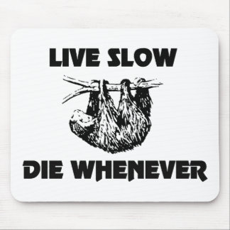 遅い死にます時はいつでも怠惰のマウスパッドは住んでいます マウスパッド