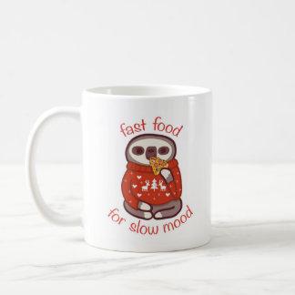 遅い気分のためのファースト・フード コーヒーマグカップ