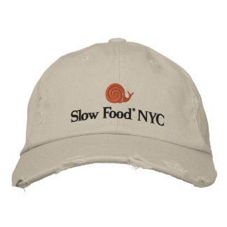 遅い食糧NYC帽子 刺繍入りキャップ