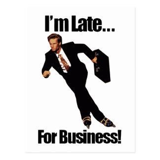 遅くビジネスRollerbladeのスケート選手のミームのために ポストカード