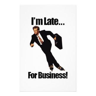 遅くビジネスRollerbladeのスケート選手のミームのために 便箋