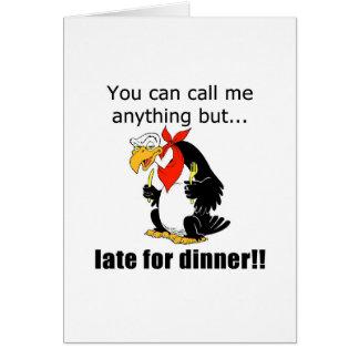遅く夕食のために カード