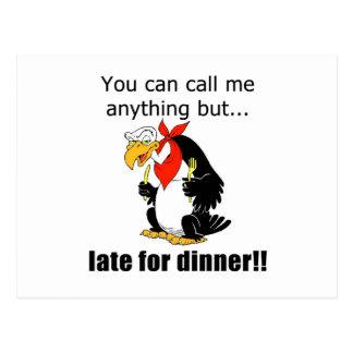 遅く夕食のために ポストカード