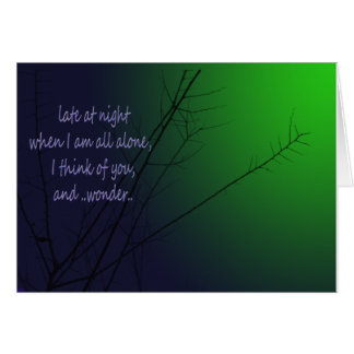 遅く夜で カード