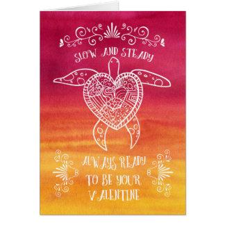 遅く、安定したカメの愛おもしろいなバレンタイン カード