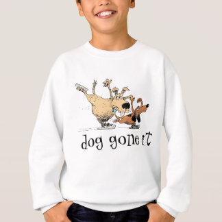 遊び、アイススケートしている犬- T-のワイシャツ スウェットシャツ