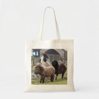遊ぶシェトランド諸島子馬の子馬-有用なバッグ トートバッグ