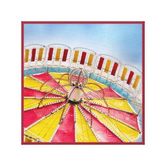 遊園地の傾き車輪の乗車のキャンバス キャンバスプリント