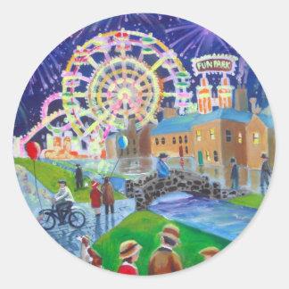 遊園地の油絵のゴードンブルースの芸術 ラウンドシール