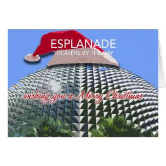 遊歩道のクリスマスカード カード