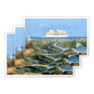 遊航船との海景 アクリルトレー
