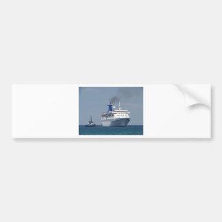 遊航船のアクアマリン バンパーステッカー