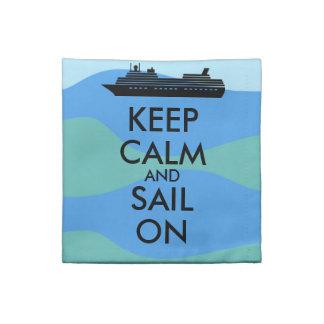 遊航船のカスタムの平静そして帆を保って下さい ナプキンクロス