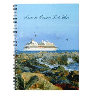 遊航船のカスタムの海景 ノートブック