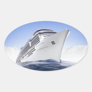 遊航船のステッカー 楕円形シール