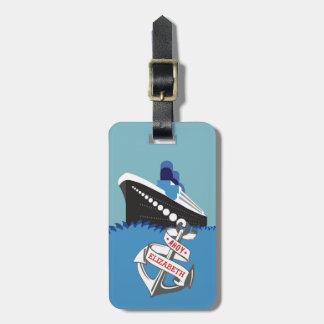 遊航船の名前入りな旅行 ラゲッジタグ