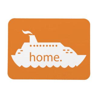 遊航船の家庭のオレンジ マグネット