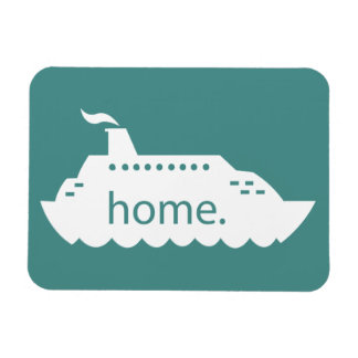 遊航船の家庭のティール(緑がかった色) マグネット