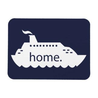 遊航船の家庭の濃紺 マグネット