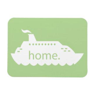 遊航船の家庭の薄緑 マグネット