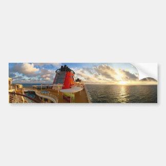 遊航船の日没 バンパーステッカー
