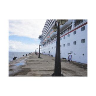 遊航船の波止場- St. Maarten キャンバスプリント