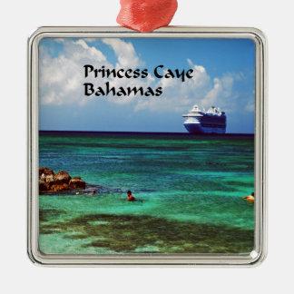 遊航船は熱帯エキゾチックな島でつなぎました メタルオーナメント