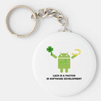 運はソフトウェア開発Bugdroidの要因です キーホルダー
