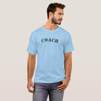 運動コーチのステンシル Tシャツ