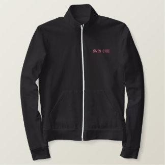 運動水泳の上品-塩素私の香水はあります- 刺繍入りジャケット