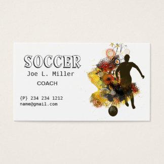 運動競技のサッカーのコーチプレーヤーのランニング 名刺