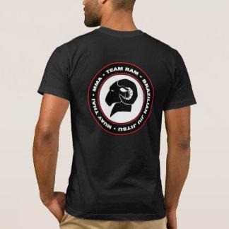 運動適合の黒いアメリカの服装のRAMのTシャツ Tシャツ