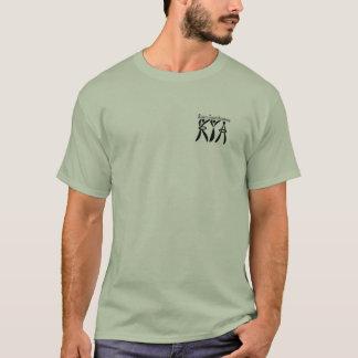 運動青年アカデミーの人のシルエットのワイシャツ Tシャツ
