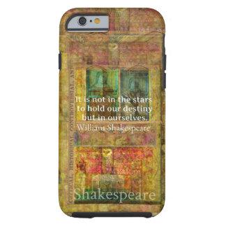 運命についてのウィリアム・シェイクスピアの引用文 iPhone 6 タフケース