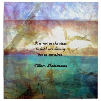 運命についてのシェークスピアの感動的な引用文 ナプキンクロス