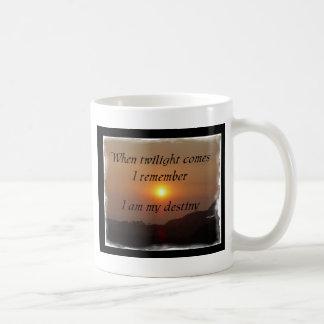 運命の明るいたそがれ コーヒーマグカップ