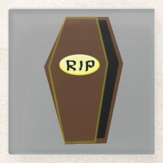 運命ガラスのコースターの裂け目のハロウィンの棺 ガラスコースター