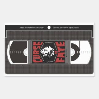 運命VHSの悪態 長方形シール