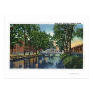 運河に沿う製造所の眺め ポストカード