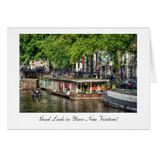 運河のハウスボート、新しい投機の幸運 カード