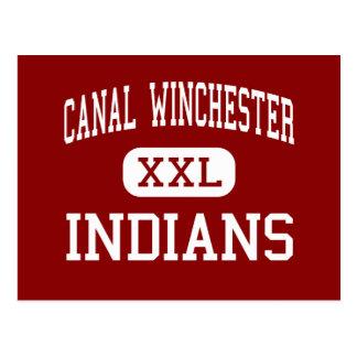 運河ウィンチェスター-インディアン-運河ウィンチェスター ポストカード