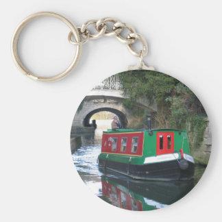 運河ボートのキーホルダー キーホルダー