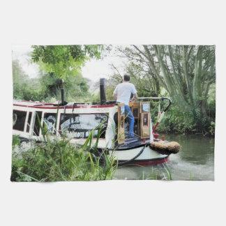 運河ボート キッチンタオル