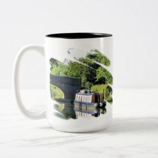 運河ボート ツートーンマグカップ