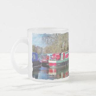 運河ボート フロストグラスマグカップ