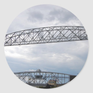 運河公園の空気の上昇橋 丸形シール・ステッカー